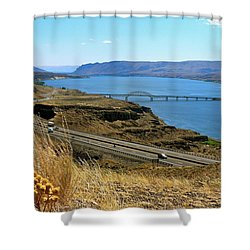 Columbia River Vantage Point Shower Curtain