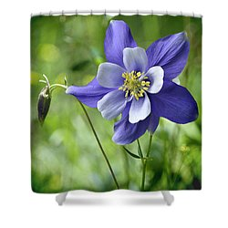 Columbine Card  Shower Curtain