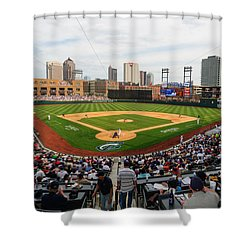 D24w-295 Columbus Clippers Photo Shower Curtain