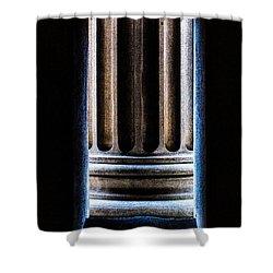 Column Number Nine  Shower Curtain