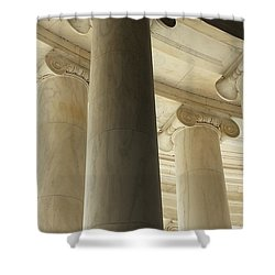 Columns Stand Guard Shower Curtain
