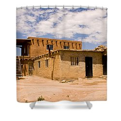 Acoma Pueblo Home Shower Curtain by James Gay