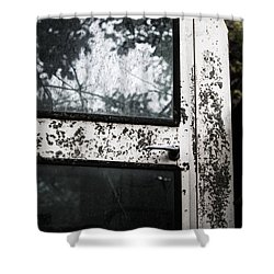 Shower Curtain featuring the photograph Combine Reflection by Rebecca Davis