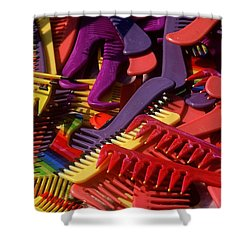 Shower Curtain featuring the photograph Combs by Rodney Lee Williams