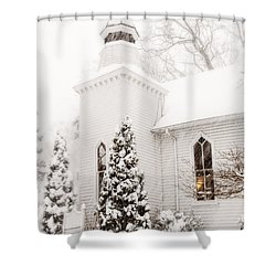 Shower Curtain featuring the photograph White Christmas In Maryland Usa by Vizual Studio