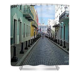 Shower Curtain featuring the photograph San Juan Puerto Rico by Roberta Byram