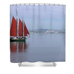 Come Sail Away Shower Curtain by Karol Livote