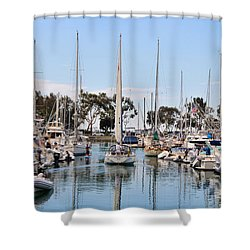 Come Sail Away Shower Curtain by Tammy Espino