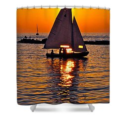 Come Sail Away With Me Shower Curtain by Frozen in Time Fine Art Photography
