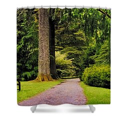 Come Sit With Me. Benmore Botanical Garden. Scotland Shower Curtain by Jenny Rainbow