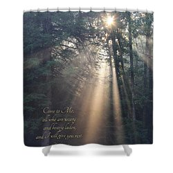 Come To Me Shower Curtain by Lori Deiter