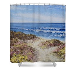 Come With Me Shower Curtain by Stanza Widen