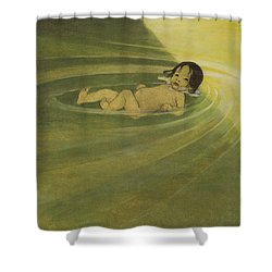 Comfortable Circa 1916 Shower Curtain by Aged Pixel