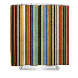 Comfortable Stripes V Shower Curtain by Michelle Calkins