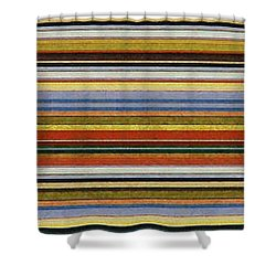 Comfortable Stripes Vll Shower Curtain by Michelle Calkins