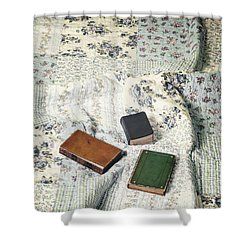 Comfy Reading Time Shower Curtain by Joana Kruse