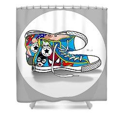 Comics Shoes 2 Shower Curtain by Mark Ashkenazi