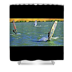 Coming And Going Shower Curtain