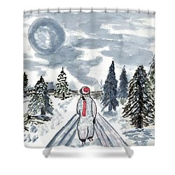 Coming Home Shower Curtain by Connie Valasco