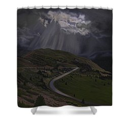 Coming Home To God Shower Curtain by Thu Nguyen