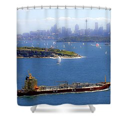 Shower Curtain featuring the photograph Coming In by Miroslava Jurcik