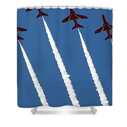 Shower Curtain featuring the photograph Coming To  Land by Tracey Williams