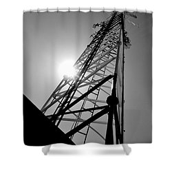 Comm Tower Shower Curtain