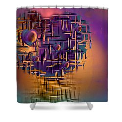 Command Central Shower Curtain by Phil Sadler