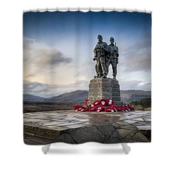 Commando Memorial At Spean Bridge Shower Curtain by Gary Eason