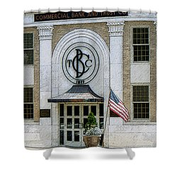 Commercial Bank And Trust Shower Curtain