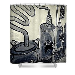 Commercial Wall Shower Curtain