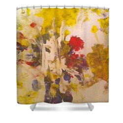 Commitment Shower Curtain by Luz Elena Aponte