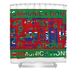 Communications Breakdown Shower Curtain by Agustin Goba