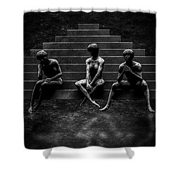 Communications Breakdown Shower Curtain by Bob Orsillo