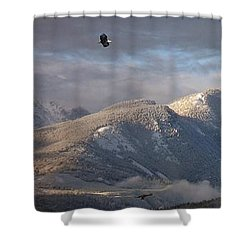 Como Peaks Montana Shower Curtain by Joseph J Stevens