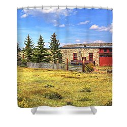 Como Roundhouse Shower Curtain by Lanita Williams