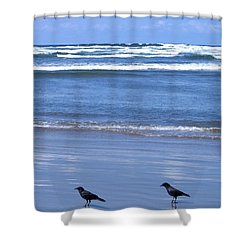 Companion Crows Shower Curtain