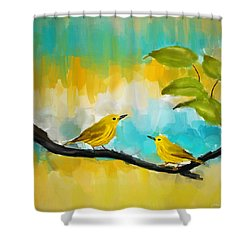 Companionship Shower Curtain by Lourry Legarde
