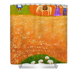 Company Come To Call Shower Curtain by Nina Stephens