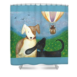 Company Coming Shower Curtain