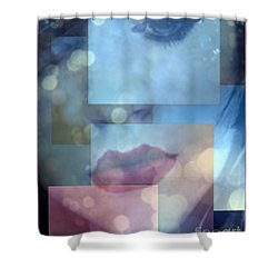 Compartmentalised Shower Curtain