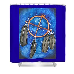Compass Dreamcatcher Shower Curtain by Cat Athena Louise