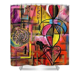 Compassionate Woman X2 Shower Curtain by Everett Spruill
