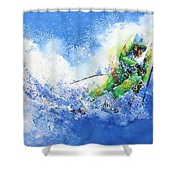 Shower Curtain featuring the painting Competitive Edge by Hanne Lore Koehler