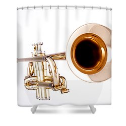 Complete Trumpet Bell Front In Color Isolated 3018.02 Shower Curtain