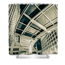 Shower Curtain featuring the photograph Complex Architecture by Alex Grichenko