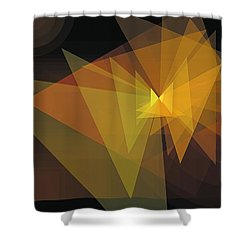Composition 28 Shower Curtain by Terry Reynoldson