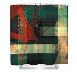 Composition 36 Shower Curtain by Terry Reynoldson