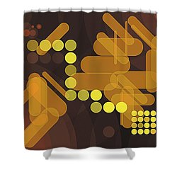 Composition 38 Shower Curtain by Terry Reynoldson