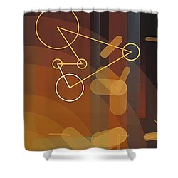 Composition 50 Shower Curtain by Terry Reynoldson